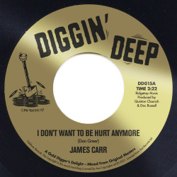 """DD 015A James Carr """"I Don't Want To Be Hurt Anymore"""" / DD 015B James Carr """"There Goes My Used To Be"""""""